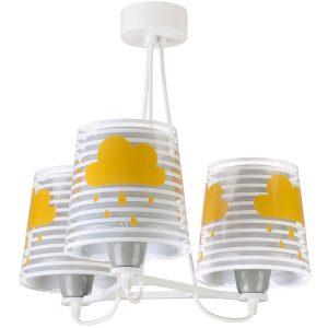 Ango 81197 E - Light Feeling Gray κρεμαστό τρίφωτο φωτιστικό οροφής