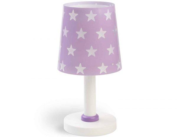 Ango 81211 L - Stars Lilac κομοδίνου παιδικό φωτιστικό διπλού τοιχώματος