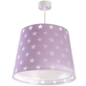 Ango 81212 L - Stars Lilac κρεμαστό παιδικό φωτιστικό οροφής διπλού τοιχώματος που φωσφορίζει