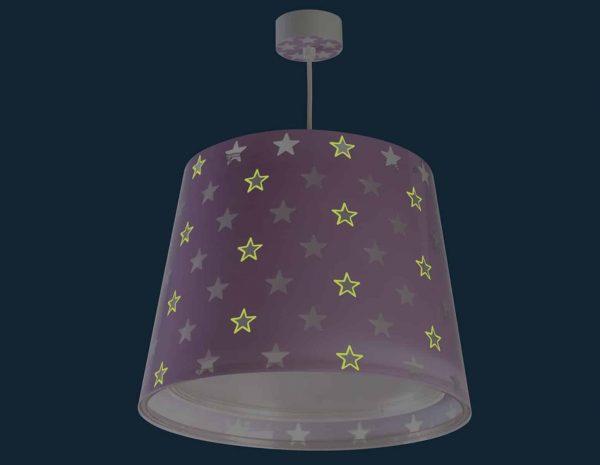 να παίξουν και να κοιμηθούν παρέα με τον αγαπημένο τους ήρωα. Το Stars Lilac οροφής συμπληρώνει τα υπόλοιπα παιδικά φωτιστικά της συλλογής και είναι εξαιρετικά εύκολο στην εγκατάστασή του.