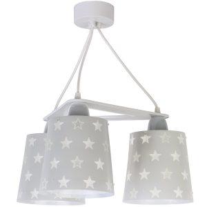 Ango 81214 E - Stars Gray κρεμαστό τρίφωτο φωτιστικό οροφής
