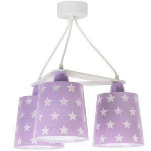 Ango 81214 L - Stars Lilac κρεμαστό τρίφωτο φωτιστικό οροφής