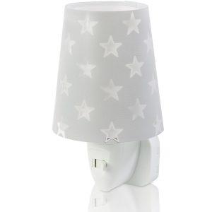 Ango 81215 E - Stars Gray φωτιστικό νύκτας πρίζας LED