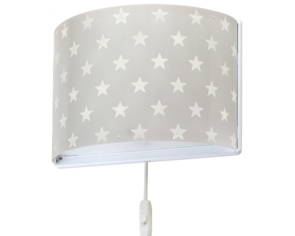 Ango 81218 E - Stars Gray παιδικό φωτιστικό απλίκα τοίχου διπλού τοιχώματος