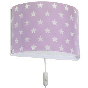 Ango 81218 L - Stars Lilac παιδικό φωτιστικό απλίκα τοίχου διπλού τοιχώματος