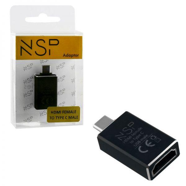 NSP 8247323 Αντάπτορας USB Type-C 3.1 αρσενικό σε HDMI 1.4 θηλυκό – DeX