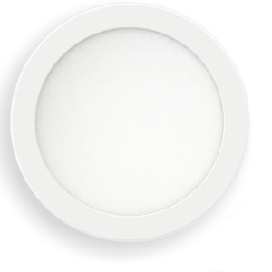 Led Πάνελ 6W - 600 lm Στρογγυλό Χωνευτό Λευκό Ø120
