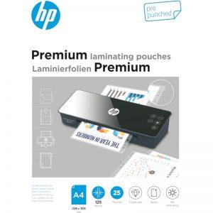 HP 9122 Premium φύλλα πλαστικοποίησης με τρύπες αρχειοθέτησης για Α4 – 125 microns – 25 τμχ