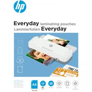 HP 9156 Everyday φύλλα πλαστικοποίησης για Α6 – 80 microns – 25 τμχ