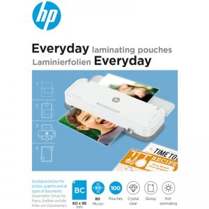 HP 9157 Everyday φύλλα πλαστικοποίησης για επαγγελματικές κάρτες – 80 microns – 100 τμχ