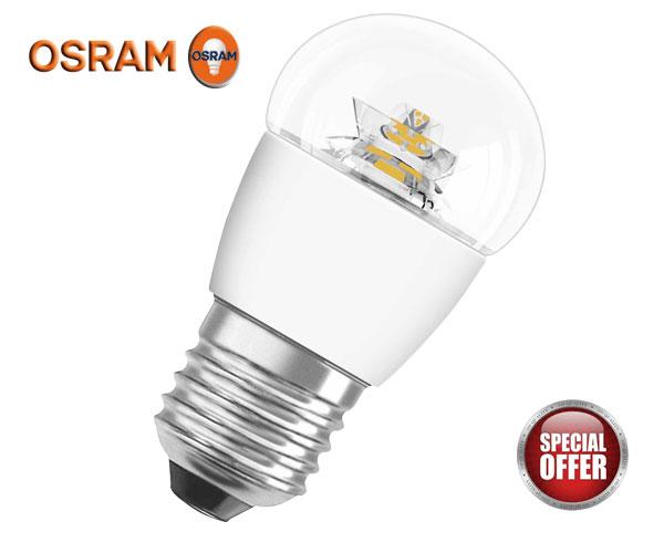 Λάμπα Parathom Classic OSRAM Σφαιρική CL P25 827 3.8W SPARKLING Ροοστατούμενη