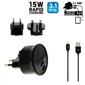 551107101-0011-ENERGIZER AC2UUNUMC2 ΦΟΡΤΙΣΤΗΣ ULTIMATE 2USB 3.1AMP ΓΙΑ ΣΥΣΚΕΥΕΣ MICRO-USB
