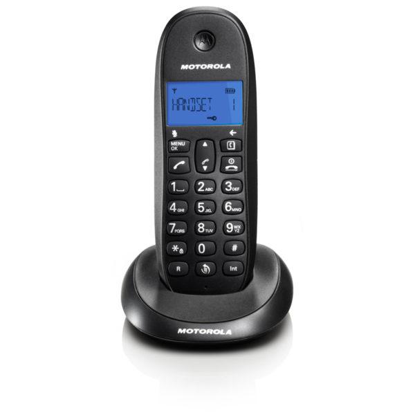 5514587-9211-Motorola C1001LB Μαύρο (Ελληνικό Μενού) Ασύρματο τηλέφωνο
