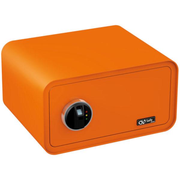 55110649-0041-Olympia GOSAFE200 FP GR Πορτοκαλί Χρηματοκιβώτιο με δακτυλικά αποτυπώματα και ηλεκτρονική κλειδαριά 24 x 43 x 36 cm