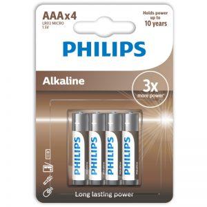 Philips LR03A4B/10 Αλκαλικές μπαταρίες υψηλής απόδοσης 4 τμχ AAA