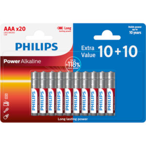 Philips LR03P20BP/GRS Power Alkaline Αλκαλικές μπαταρίες υψηλής απόδοσης 20 τμχ AAA