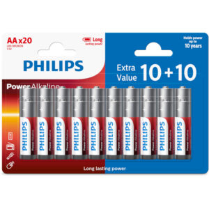 Philips LR6P20BP/GRS Power Alkaline Αλκαλικές μπαταρίες υψηλής απόδοσης 20 τμχ AA