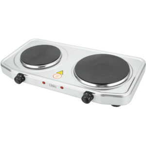 Osio OHP-2218 Διπλή ηλεκτρική εστία κουζίνας inox με θερμοστάτη 15.5 cm – 18.5 cm 2500 W