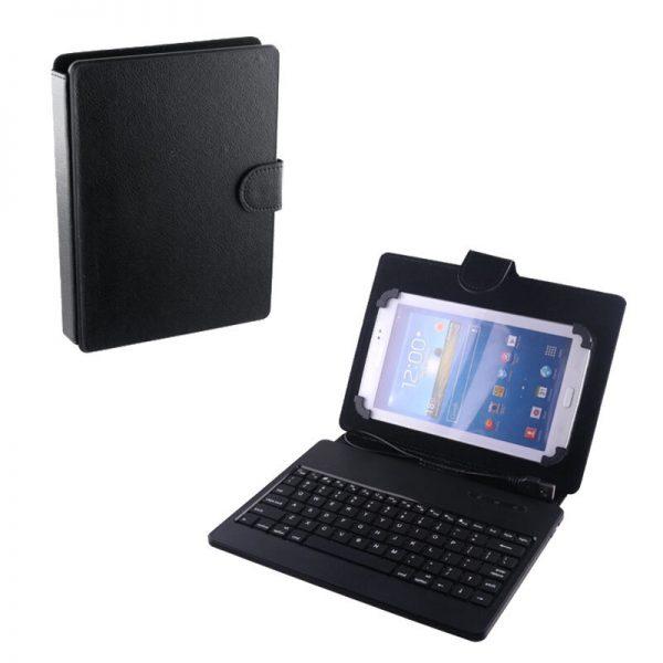 Osio OTC-6079BT Θήκη – stand με Bluetooth πληκτρολόγιο για tablet 6″ – 7.9″ universal PU δέρμα μαύρο