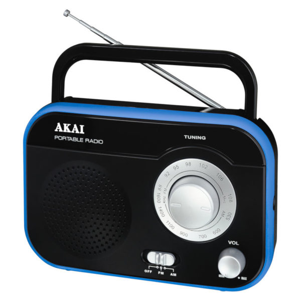 55110583-0410-Akai PR003A-410B Φορητό αναλογικό ραδιόφωνο με είσοδο ακουστικών 1 W