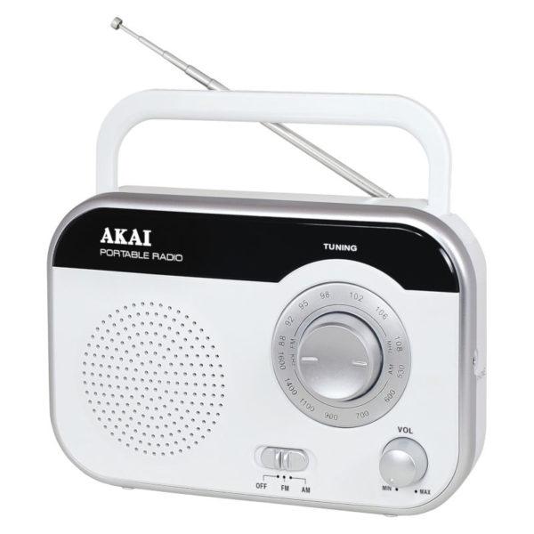 55110583-0411-Akai PR003A-410W Φορητό αναλογικό ραδιόφωνο με είσοδο ακουστικών 1 W