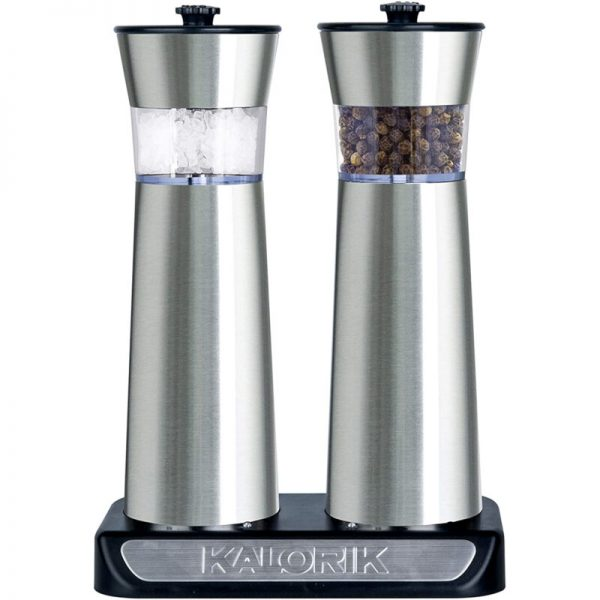 55196196-0019-Kalorik PSGR 2000 RI Σετ ηλεκτρικοί επαναφορτιζόμενοι μύλοι πιπεριού και αλατιού με αισθητήρα λειτουργίας