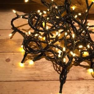 Σειρά Χριστουγέννων 100 LED Επεκτεινόμενα 7m Πράσινο Καλώδιο/Θερμό Χρώμα IP20 220-240V OEM 841205