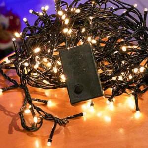 Σειρά με LED Χριστουγέννων Λευκά Ψυχρά με Ρυθμιστή 140 λαμπάκια 9m