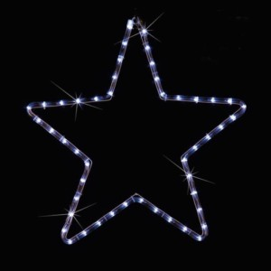 LED Φιγούρα Αστέρι Μονό 1m Ψυχρό Φως IP44 220-240V OEM 840100