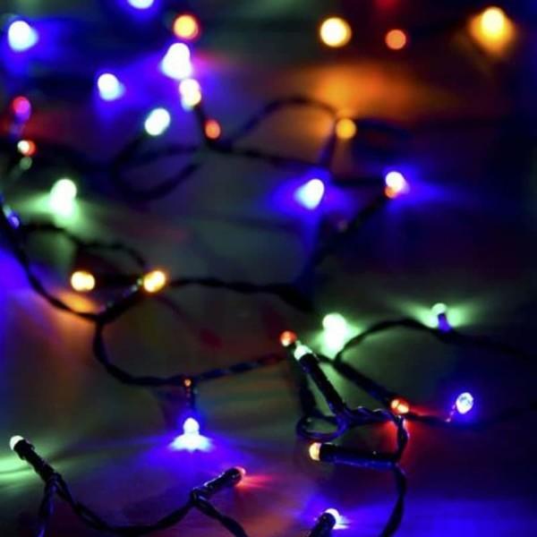 Σειρά Χριστουγέννων 300 Λαμπάκια 17μέτρα Ρυζάκι Με Πρόγραμμα M/F IP20 Πράσινο Καλώδιο/Πολύχρωμα 220-240V OEM 840615