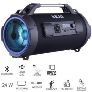 55110582-0072-Akai ABTS-13K Φορητό ηχείο Bluetooth karaoke με LED