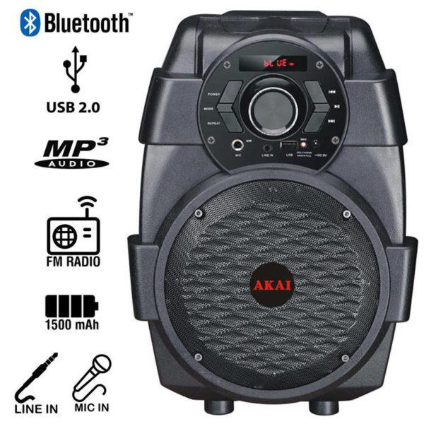 55110582-0003-Akai ABTS-806 Φορητό ηχείο Bluetooth με USB