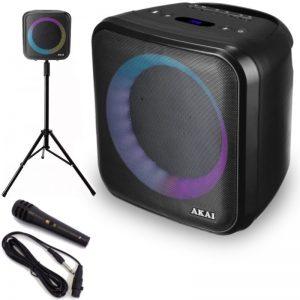 Akai ABTS-S6 Φορητό ηχείο Bluetooth karaoke με τρίποδο
