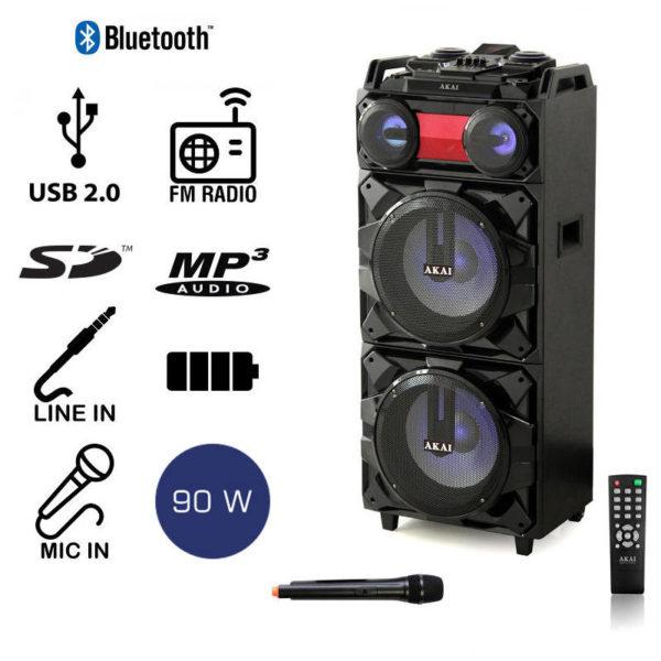 55110582-0005-Akai ABTS-Τ1203 Φορητό ηχείο Bluetooth με LED