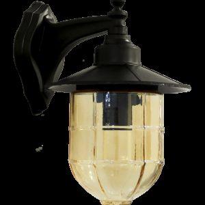 490-07-1313-Φωτιστικό επιτοίχιο AP-78AN BLACK 07-1313