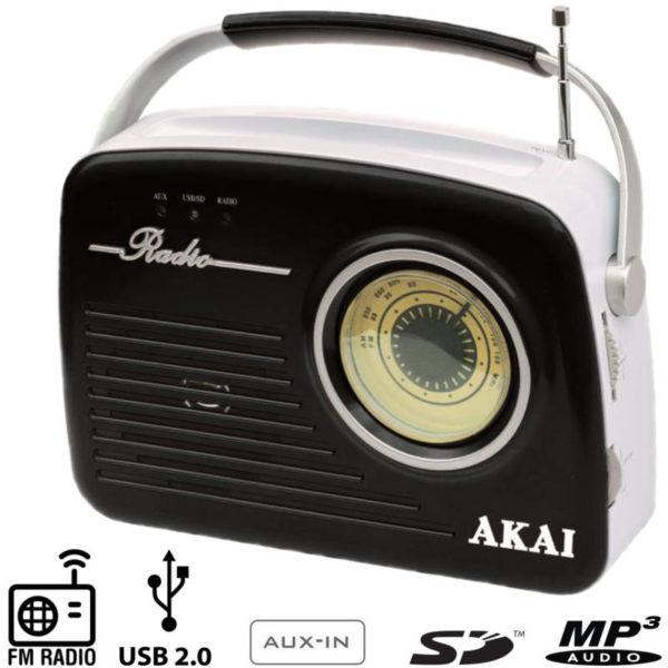 55110583-0003-Akai APR-11B Ρετρό φορητό ραδιόφωνο με USB