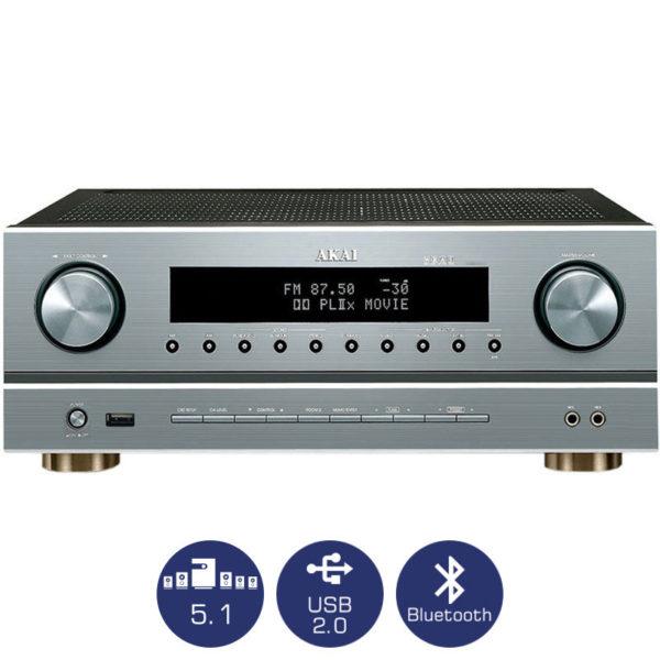5510082-7501-Akai AS005RA-750BT Ραδιοενισχυτής 5.1 karaoke με Bluetooth και USB