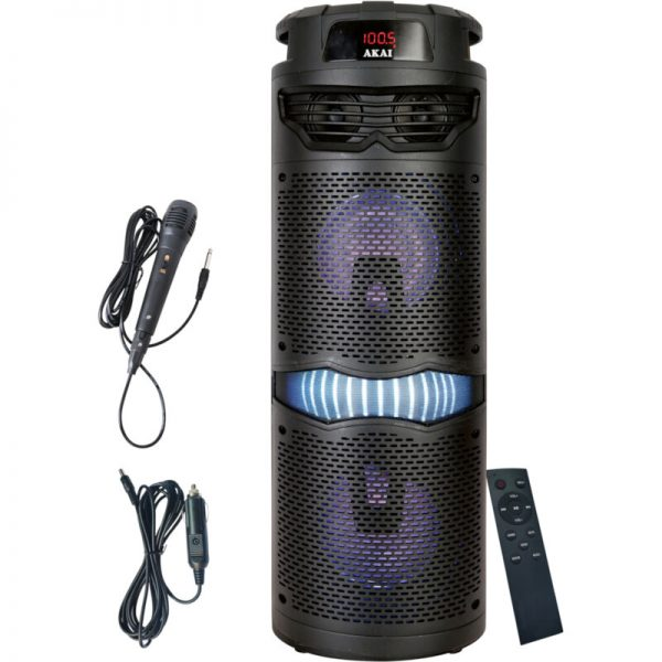 Akai ABTS-636 Φορητό ηχείο Bluetooth karaoke με USB