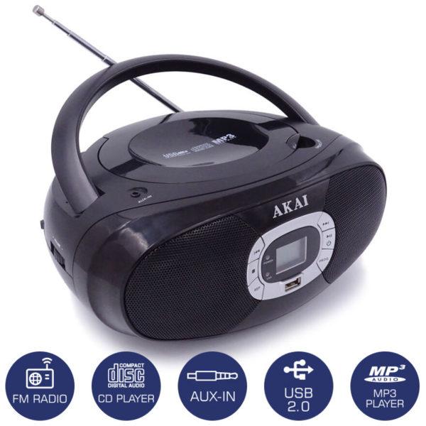 5514883-0614-Akai BM004A-614 Φορητό HiFi με ραδιόφωνο