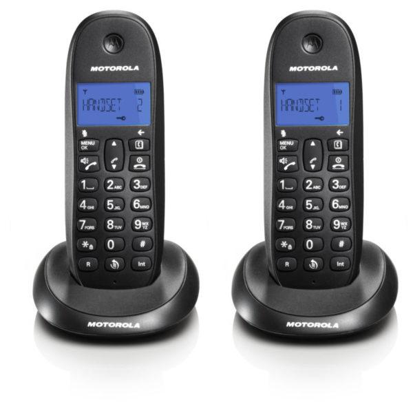 5514587-9213-Motorola C1002LB (Ελληνικό Μενού) Διπλό ασύρματο τηλέφωνο