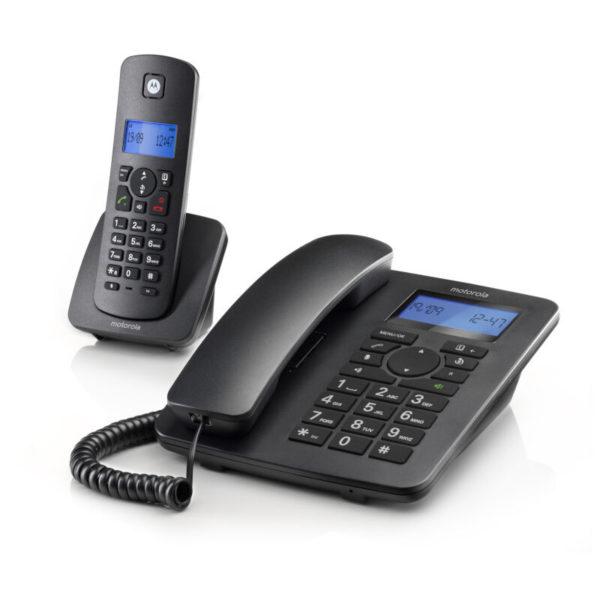 5514587-9227-Motorola C4201 COMBO Ενσύρματο και ασύρματο τηλέφωνο σετ