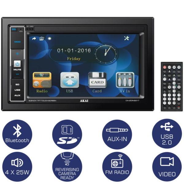 55110586-0001-Akai CA-2DIN2217 Ηχοσύστημα αυτοκινήτου 22 DIN με Bluetooth