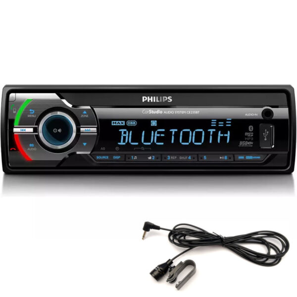 Philips CE235BT/GRS MIC Ηχοσύστημα αυτοκινήτου με Bluetooth και εξ. μικρόφωνο σετ