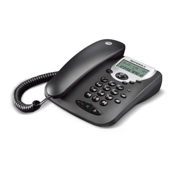 5514587-9214-Motorola CT2 Μαύρο Ενσύρματο τηλέφωνο με οθόνη