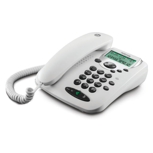 5514587-9242-Motorola CT2W Λευκό Ενσύρματο τηλέφωνο με οθόνη