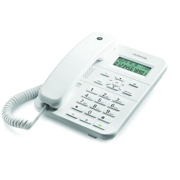 5514587-9274-Motorola CT202 Λευκό Ενσύρματο τηλέφωνο