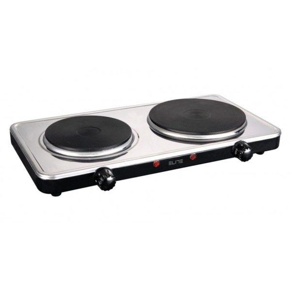 551109194-0005-Elite EHP-0284Χ Διπλή Inox ηλεκτρική εστία κουζίνας 2500 W