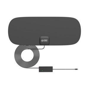 55199301-0002-First Austria FA-3101 Λεπτή κεραία τηλεόρασης εσωτερικού χώρου με ενισχυτή και USB – 16 x 40 cm