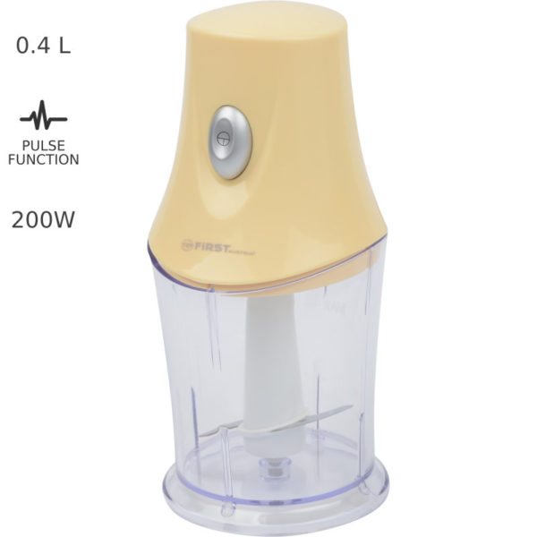 55199196-0043-First Austria FA-5111-1-YE Πολυκόπτης με παλμική λειτουργία – 0.4 L 200 W