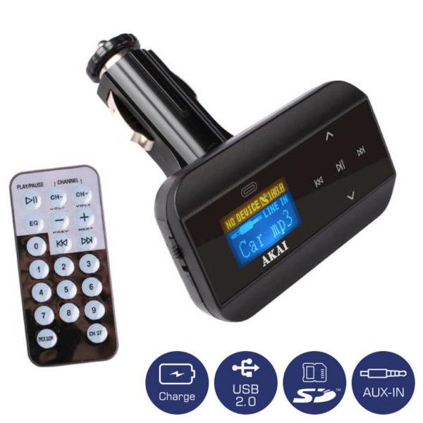 55110585-0005-Akai FMT-30 FM transmitter και φορτιστής αυτοκινήτου με USB